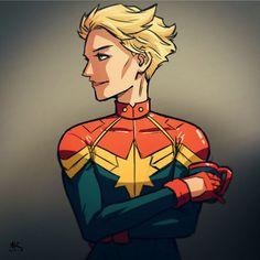 Mugshot Monday: Carol Danvers aka Captain Marvel by AndrewKwan