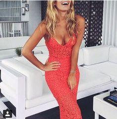 dress coral dress lace dress maxi dress