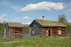 Old Sami church village in Västerbotten, Sweden.