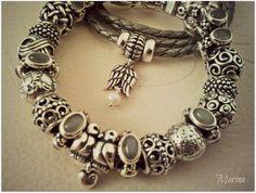 Mon Set Pandora gris Pierre de Lune. #MyPandora #Pandorabracelet Guardian Angel Ange