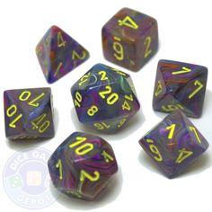 7-piece Festive dice set - D&D dice - Rio