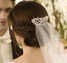 Bella Swans wedding hairstyle
