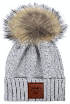 459f441737d Pom Beanie - Light Gray. Sweater WeatherWinter Hats