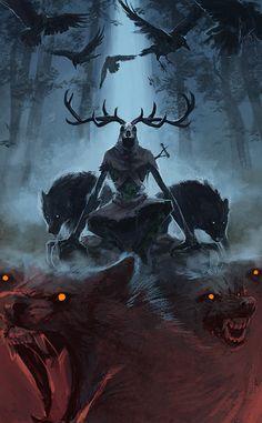 m looking for some awesome Witcher Wallpaper like this one Dark Fantasy Art, Fantasy Artwork, Fantasy Kunst, Fantasy World, Dark Art, Art Sinistre, Witcher Wallpaper, Arte Obscura, Creepy Art