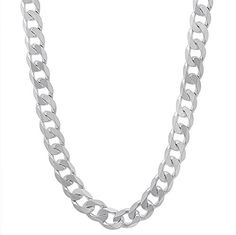 5.5mm Solid 925 Sterling Silver Cuban Link Curb Chain Necklace, 55 cm  Discount…