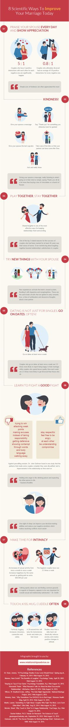8 Scientific Ways To Improve Your Marriage Today #infographic #Relationship