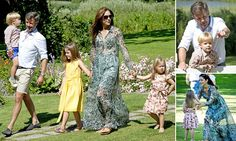 Princess Mary soaks up the summer with family in tow at royal palace