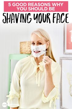 Shaving my face seemed like a weird idea at first, but now I wonder why I didn't try it sooner! Sharing 5 Good Reasons Why You Should Be Shaving Your Face too! #beautytips Beauty Care, Diy Beauty, Beauty Hacks, Beauty Ideas, Beauty Tips For Skin, Health And Beauty, Girl Tips, Girl Hacks, Makeup For Older Women