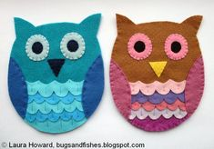 As promised, today I'm sharing a tutorial to make your own felt owl.          To make your owl, you will need:   - Assorted shades of fe...