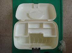 I'm pretty sure my mum had one of these! A Baby/ Toiletry Changing box :) Pretty cool!