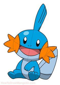 How to draw Mudkip Pokemon step by step My Pokemon, Pikachu, Pokemon Stuff, All Pokemon Drawing, Pokemon Birthday, 5th Birthday, Pictures To Draw, Drawing Pictures, Mudkip