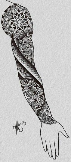 Geometric Tattoo Sleeve Designs, Geometric Tattoo Forearm, Mandala Hand Tattoos, Tattoo Tribal, Mandala Tattoo Sleeve, Forearm Tattoo Design, Mandala Tattoo Design, Full Sleeve Tattoos, Sleeve Tattoos For Women