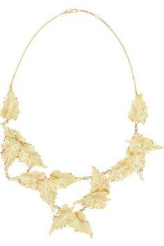 ANA KHOURI Leaf gold diamond necklace with of diamonds Girls Jewelry, High Jewelry, Jewelry Art, Gold Jewellery, Fantasy Jewelry, Leaf Necklace, Statement Jewelry, Handmade Necklaces, Jewelery