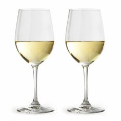 Vinum Chablis Wine Glasses Set of Two ($55) ❤ liked on Polyvore featuring home, kitchen & dining, drinkware, wine glasses set, wine glass set and set of wine glasses