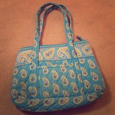 Vera Bradley Tote Bags, Diaper Bag, Zip, Blue, Things To Sell, Products, Diaper Bags, Nappy Bags, Beauty Products