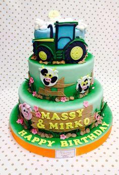 Torta trattore , Happy Birthday, Brescia , Le Torte di Giada , compleanno , torta per 40 porzioni