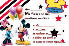 Invitaciones De Cumpleaños Mickey Mouse En Hd Gratis Para Descargar 4  en HD Gratis Miki Mouse, Mickey Mouse Birthday, Baby Shower, Messages, Christmas, Cards, Minnie, David, Ideas