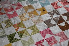 Colorful quilt top by filminthefridge, via Flickr