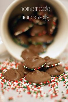 Homemade chocolate nonpareils are a fun candy treat. Grab the tutorial here!