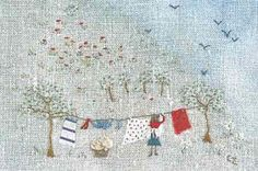 Embroidery by the wonderful Caroline Zoob, on sarah-jane down the lane: Stitched up