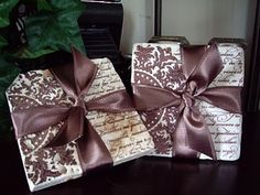 Brown Paper Packages: Tile Coasters