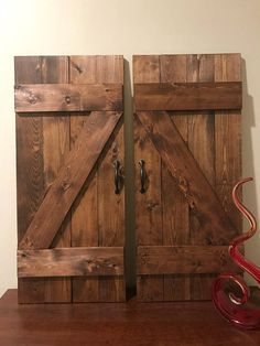 Shutter Wall Decor | Z Bar Farmhouse Barn Door Wooden Window Shutters