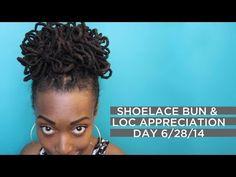 Shoelace Bun Tutorial  Loc Appreciation Day 6/28/14! via chescalocs