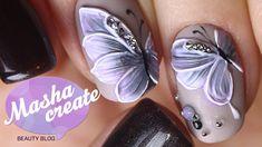 """Объемный Маникюр """"бабочки на ногтях"""" Фактурным гелем. Обзор гель лака Ha..."""