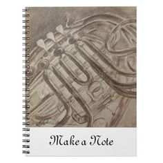 French Horn Notebook is a great notebook for school use for music class.  The art is an illustration by Stephanie of GrinningLikeAnIdiot.com.