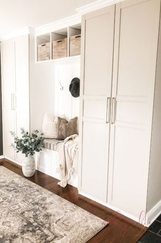 We recently did a complete mudroom makeover using an awesome IKEA hack! We are - IKEA Method Ikea, Ikea Cabinets, Mudroom Cabinets, Ikea Laundry Room Cabinets, Ikea Kitchen, Ikea Utility Room, Wardrobe Cabinets, Ikea Bathroom, Laundry Rooms