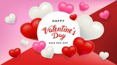 Valentines day sale background with heart, flyers, posters, brochure, banners Premium Vector Valentine Day Boxes, Happy Valentines Day, Love Backgrounds, Love Cover, Independence Day, Flyers, Holi, Banners, Hearts