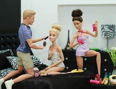 Barbie's going to be fabulous after her make over  #Barbie #BarbieStyle