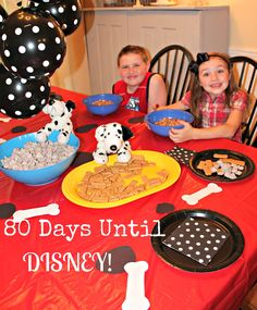Countdown To Disney - 101 Dalmations Party - Family dinner and movie night.
