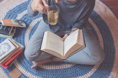 Reading and drinking tea by Seronda Estudio on Creative Market