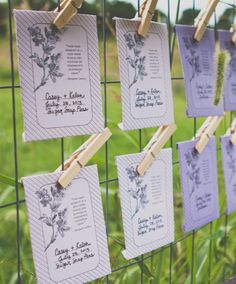seed packet escort cards   Fab You Bliss