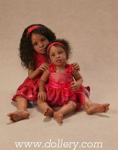Leslie & Leya,Sarah Niemela Artist Dolls