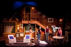 The Foreigner. Greenbriar Valley Theatre. Scenic design by Josh Robinson.