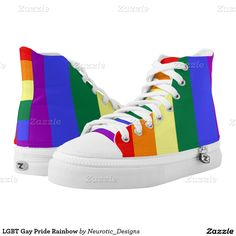 LGBT Gay Pride Rainbow Printed Shoes from Ricaso
