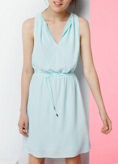 Faded print dress - Dresses - Women - MANGO