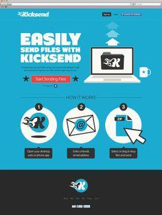 kicksend Homepage