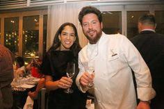 Tequila Casa Dragones Co-Founder & CEO, Bertha Gonzalez pictured with James Beard Award-winning chef and restauranteur Scott Conant at an intimate dinner at Scarpetta at Fontainebleau during 2016's Food Network & Cooking Channel South Beach Wine & Food Festival.