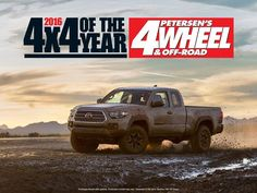 The all-new #Tacoma was voted best 4x4 of 2016. Not bad considering its only January.