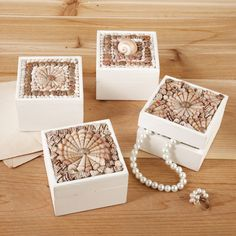 Sailors Valentine Shell Dressing Table Boxes