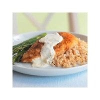 Parmesan Crusted Chicken in Cream Sauce