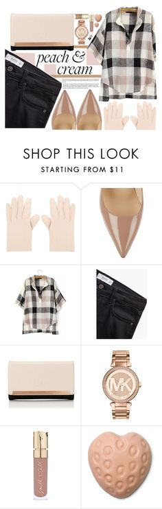 """""""Peach & cream"""" by pau-rosa ❤ liked on Polyvore featuring Alexander McQueen, Christian Louboutin, MANGO, Lipsy, Michael Kors, Smith & Cult and Dolce&Gabbana"""