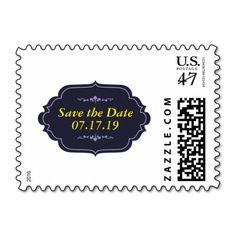 Elegant Save the Date Postage Stamp