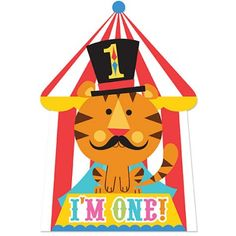 1st Birthday Circus Invitations | 8ct