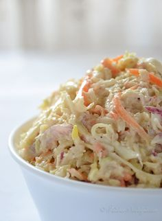 Creamy Coleslaw - great for any party! - kitchennostalgia.com