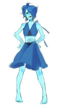 Connie Steven Universe, Steven Universe Lapis, Lapis And Peridot, Lapis Lazuli, Gem Drawing, Connie Stevens, Im Blue, Lapidot, Fictional World