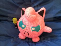 Jigglypuff (angry) - Pokémon - 20cm amigurumi by PatipataHandmade on Etsy